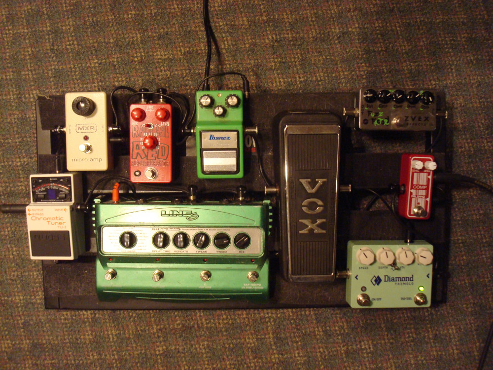 Ben's pedal board (in case you're into that stuff...)